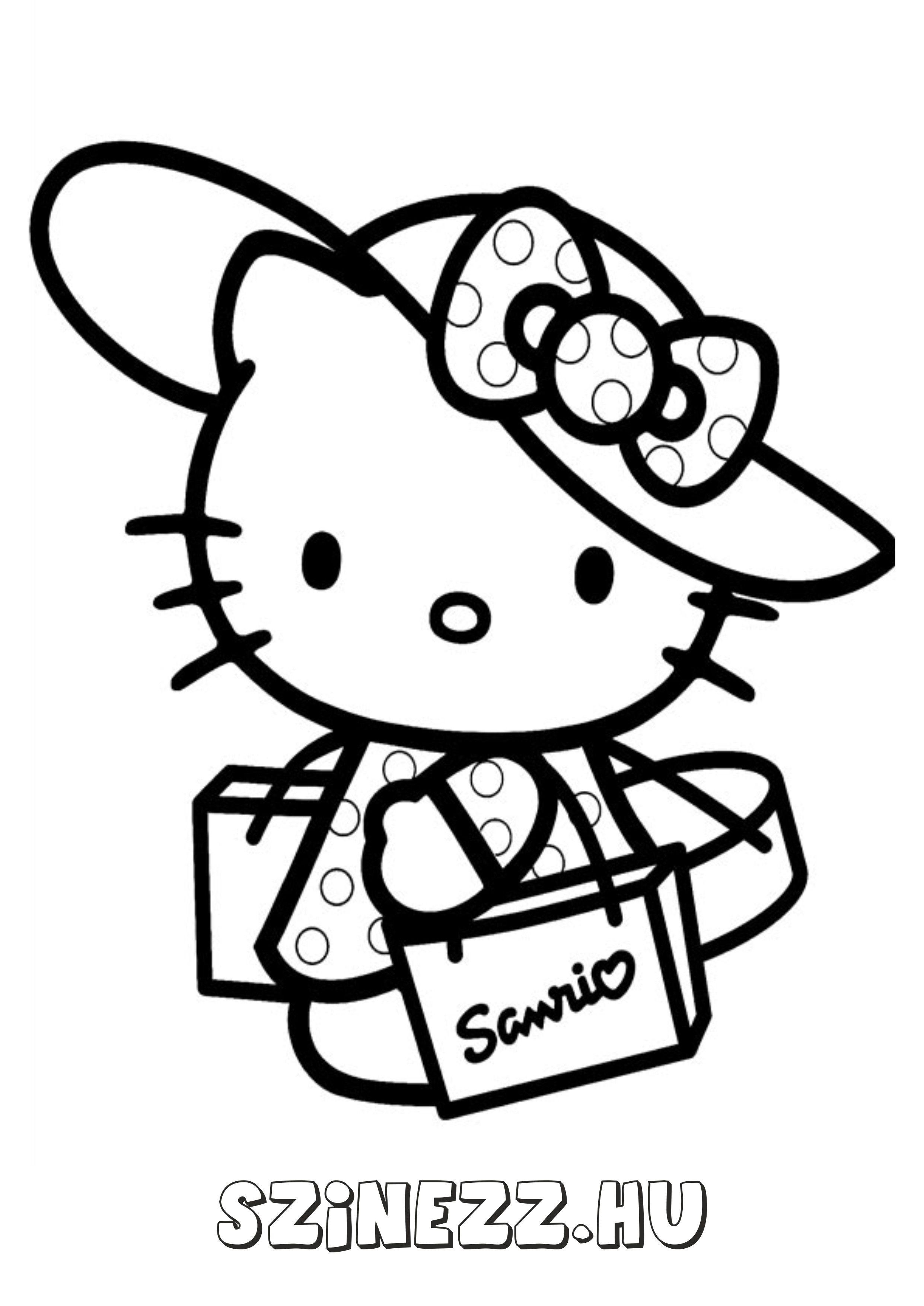 Рисунки раскраски котенок