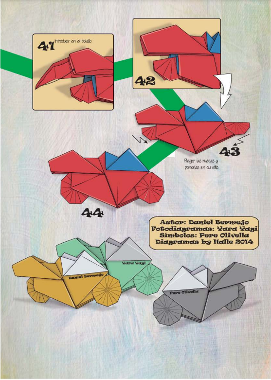 Как из бумаги сделать мотоцикл схема 25