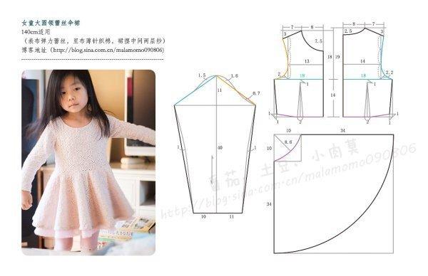 Как сшить платье своими руками для девочки с выкройками 628