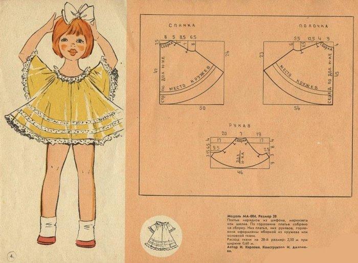 Шьем детям платье своими руками