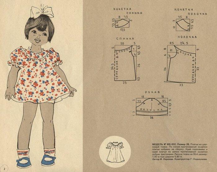Сшить платье для девочки 1 год