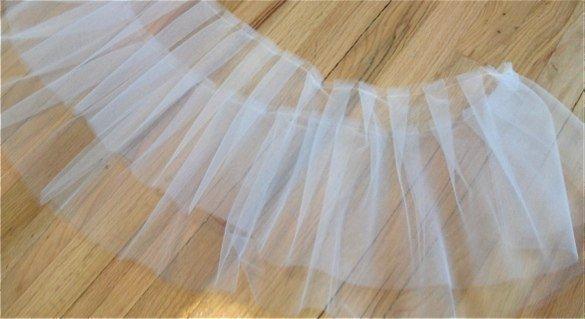 Как сшить юбку из тюли пышную