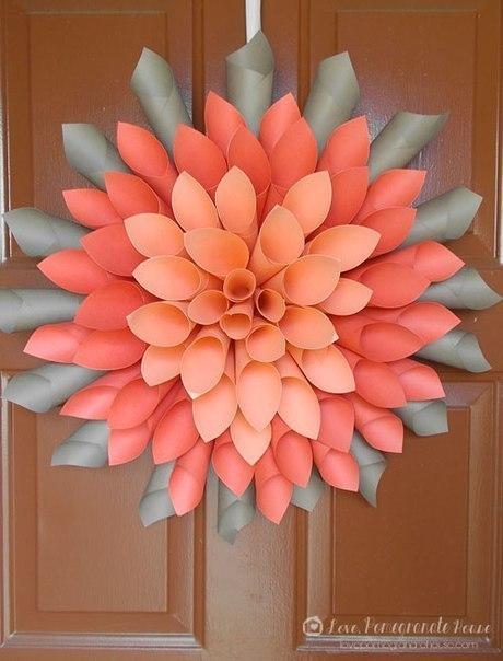 Цветы на резинке  из атласных лент 113