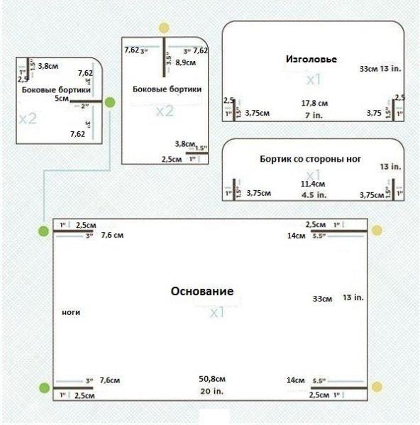 Мебель из картона схема