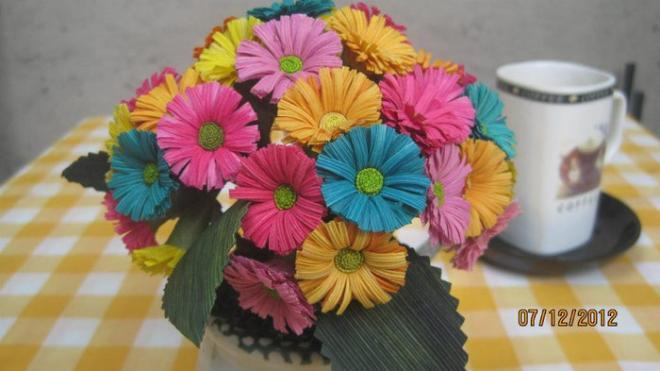 Цветы из природного материала