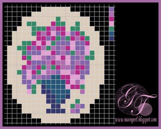 Схемы для вышивки брошек бисером