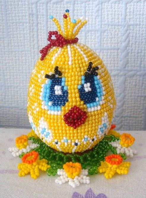 Яйцо из бисер мастер класс схема