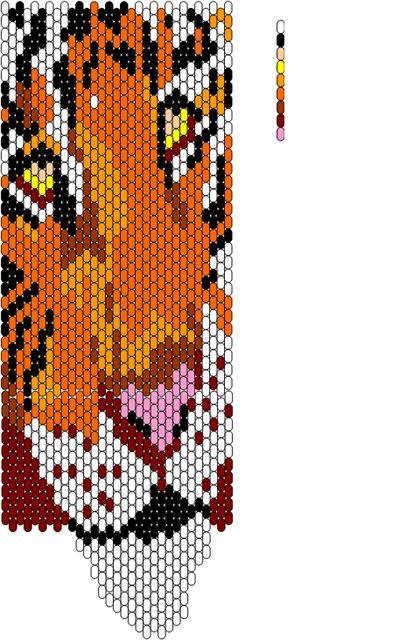 Схема для фенечки тигр