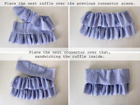 Джинсовая юбка шитье