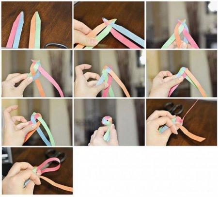 видеоурок как сделать гирлянду из бумаги