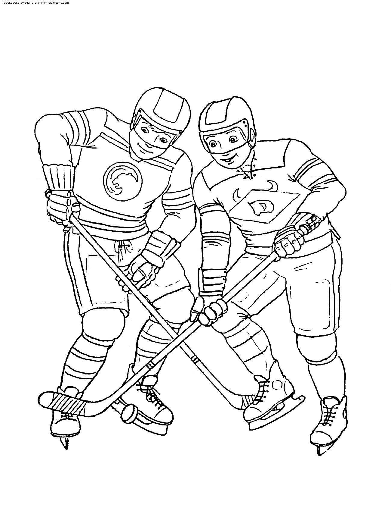 """Раскраски """"хоккей"""" скачать и распечатать бесплатно"""