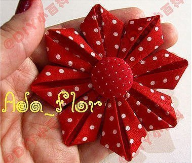 Цветок из материи своими руками 12