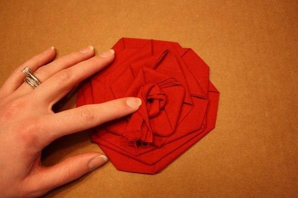 Пионы из ткани своими руками мастер класс