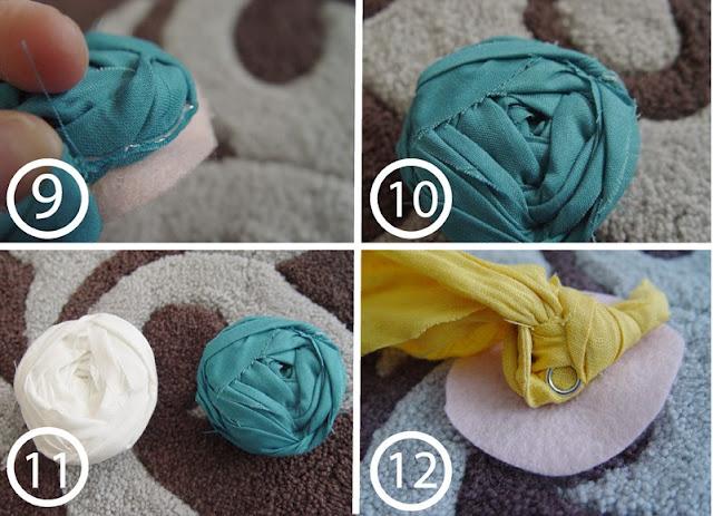 Как сделать полоски из ткани для 288