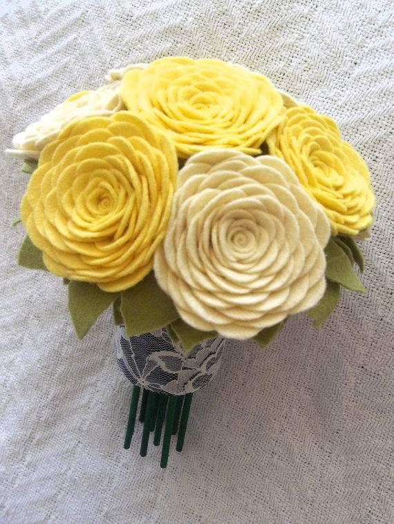 Букеты цветов своими руками из фетра