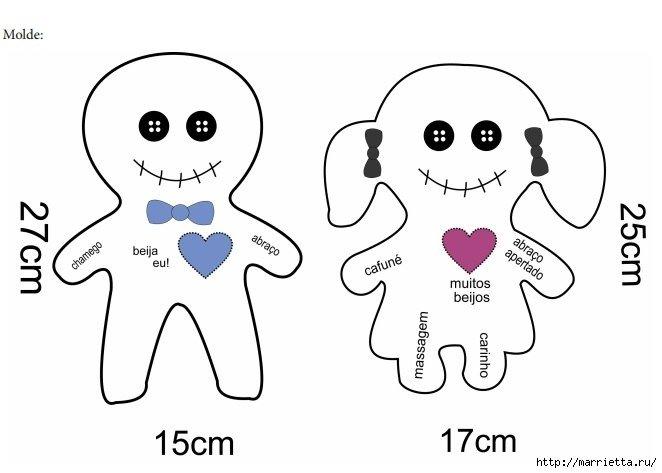 Как сделать куклу вуду на себя из ткани