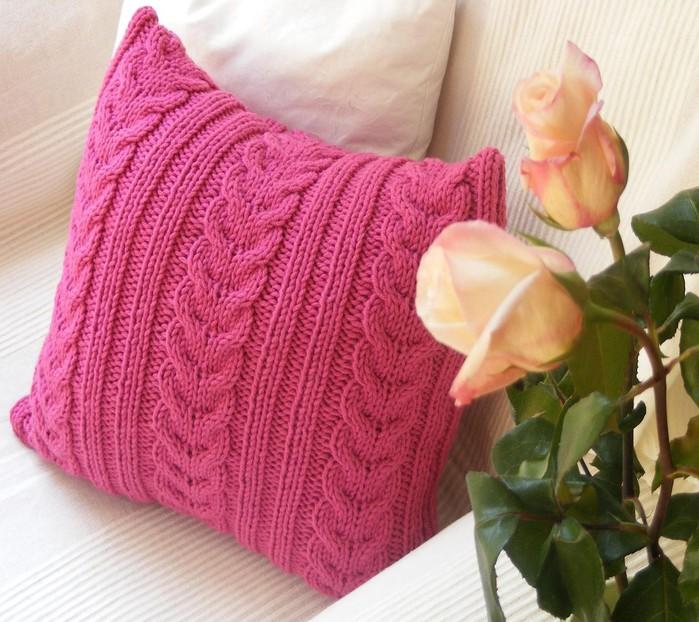 Как связать подушку своими руками