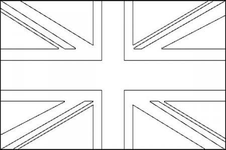 Английский флаг раскраска