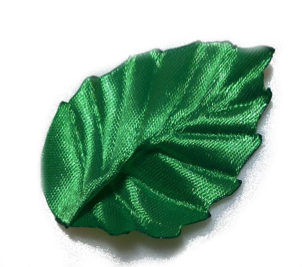 Листья из атласных лент своими руками мастер
