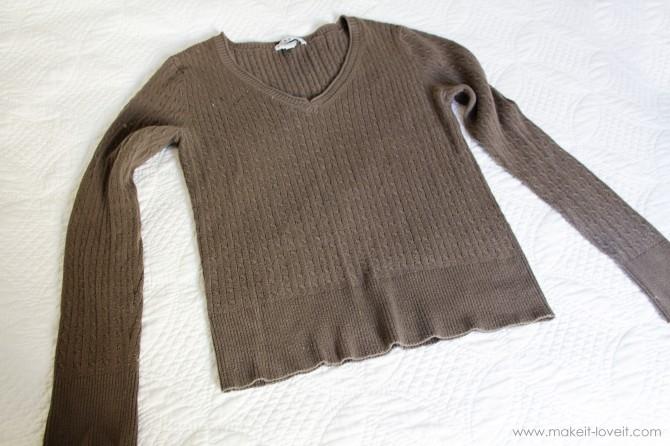переделать старый свитер фото