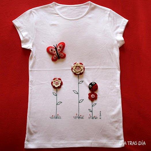 Декор футболки своими руками фото