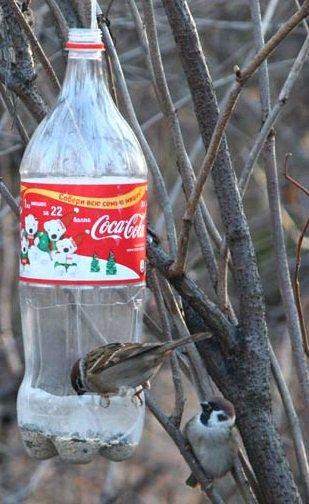 Фото кормушек для птиц своими руками из коробки