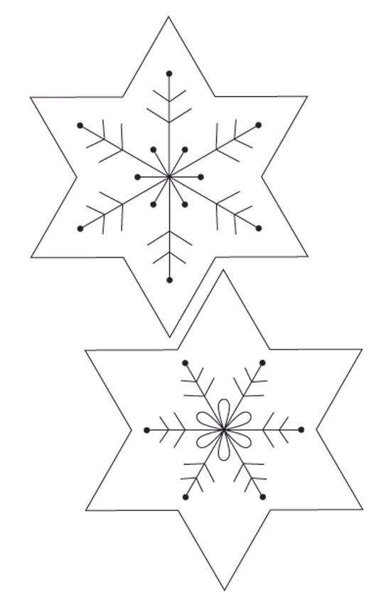 Снежинка из фетра своими руками с выкройками