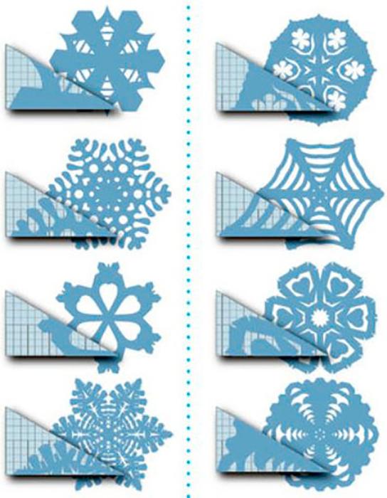 Из чего можно сделать снежинку кроме бумаги