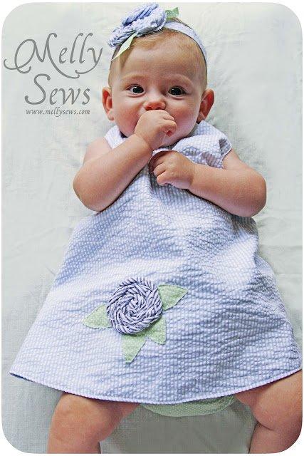 Платье на младенца сшить своими руками