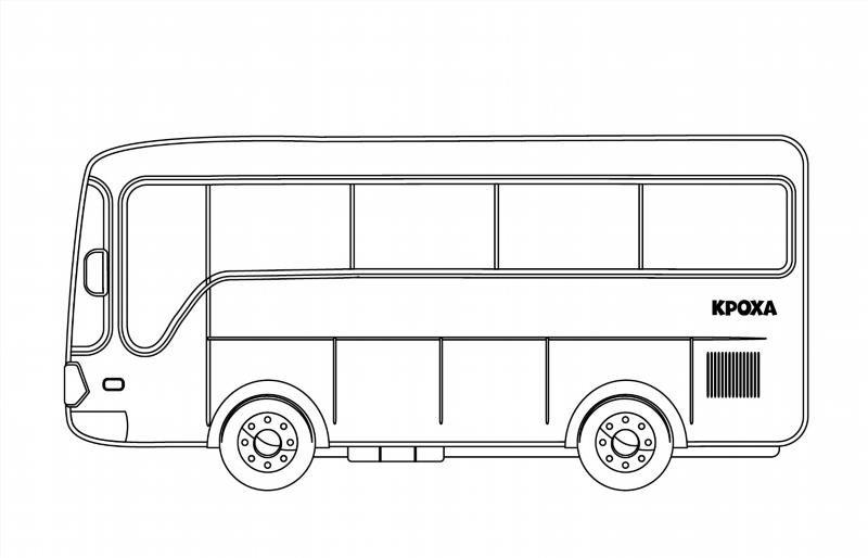 Раскраска автобус - 8