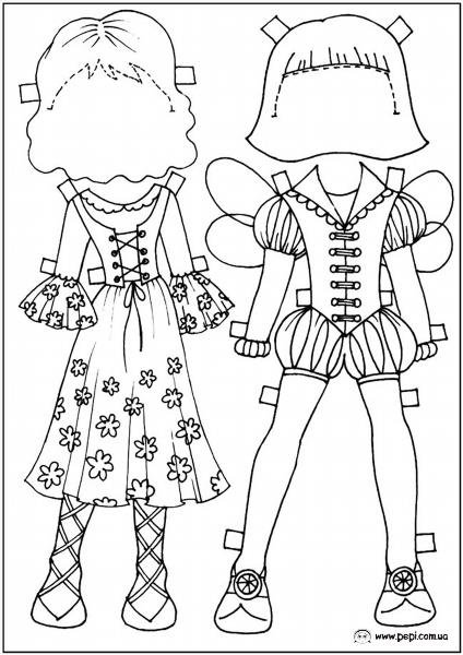 Бумажные Куклы Распечатать И Скачать
