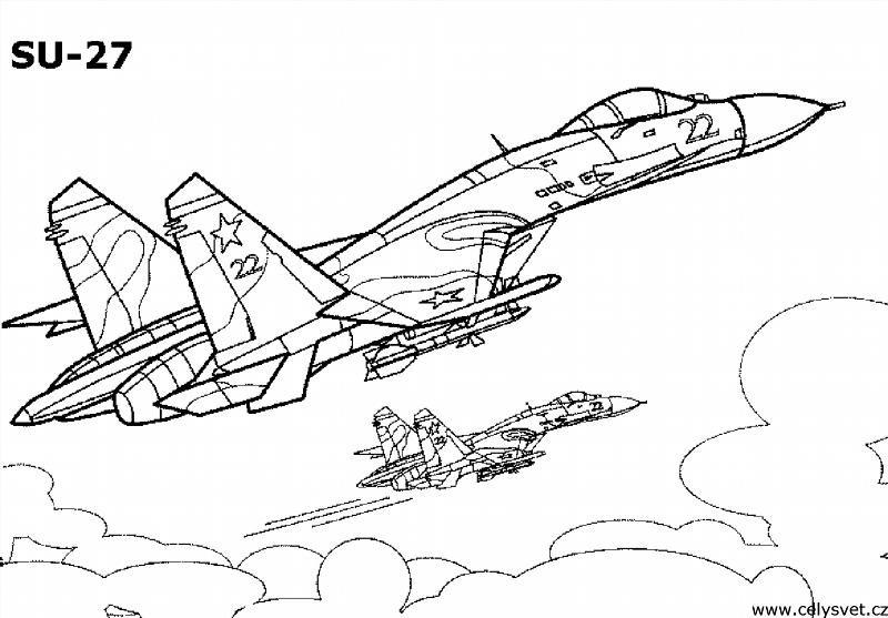 """Раскраски """"военный самолет"""" скачать и распечатать бесплатно"""