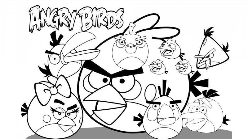 Злые Птички Раскраски
