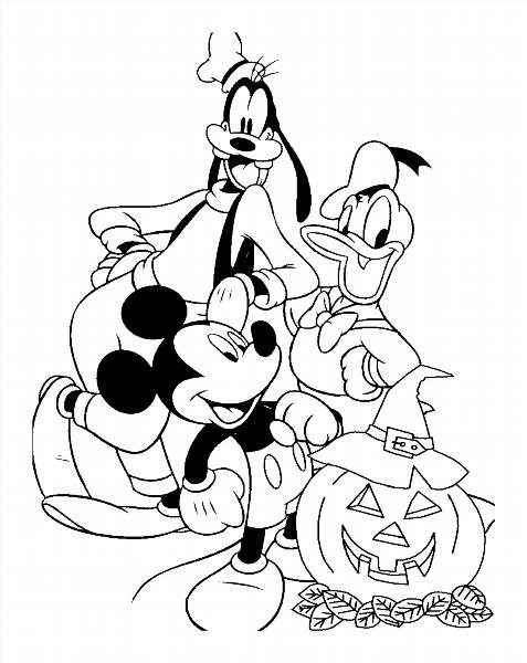 goofy halloween coloring pages Coloring4free