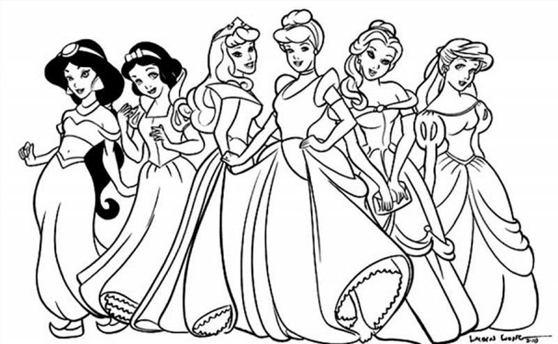 Раскраску про принцесс