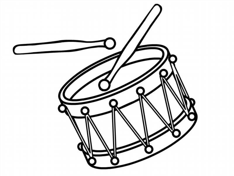 Раскраска барабана распечатать