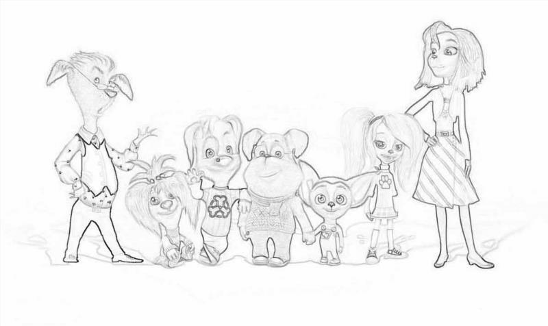 Рисунки семьи из 4 человек