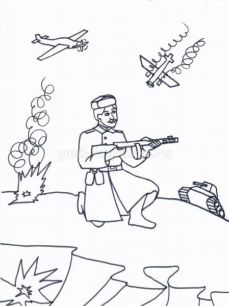 Раскраски для девочек о войне