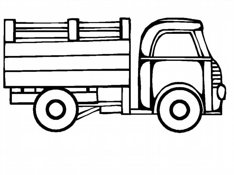Машина легковая и грузовая раскраска