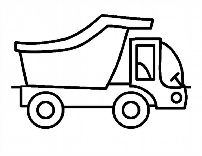 Картинки машин грузовых для раскраски