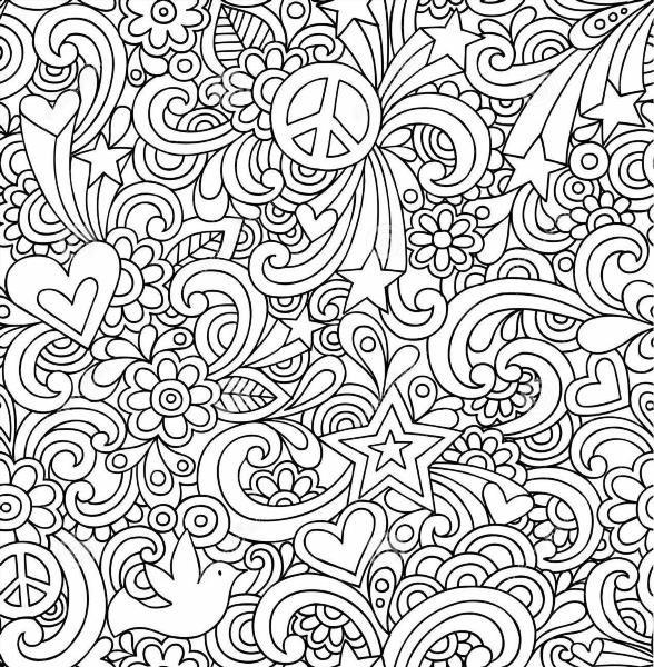 Чёрно белые узоры для раскрашивания