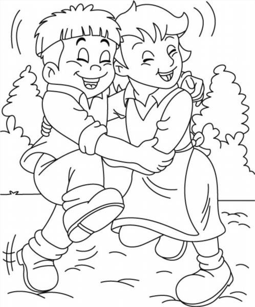 Раскраска про дружбу распечатать