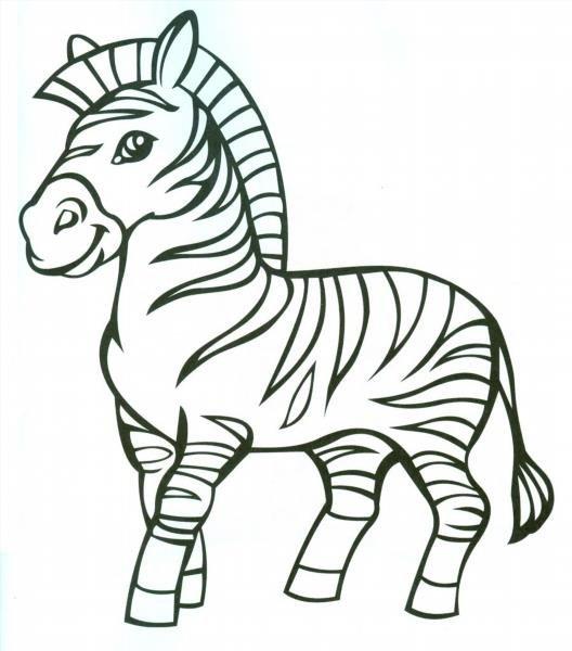 Раскраски зебра и дети