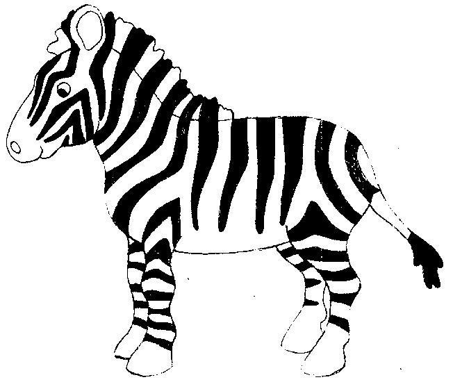 Зебра раскраски распечатать