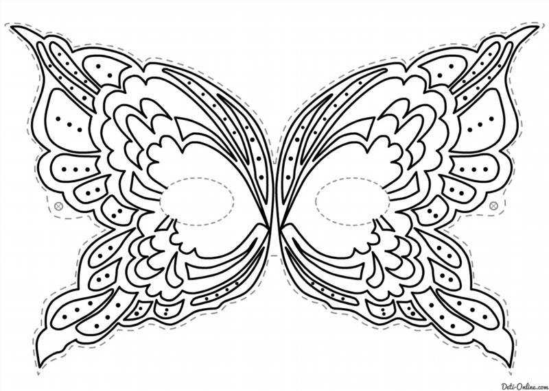 Маска бабочка своими руками из бумаги