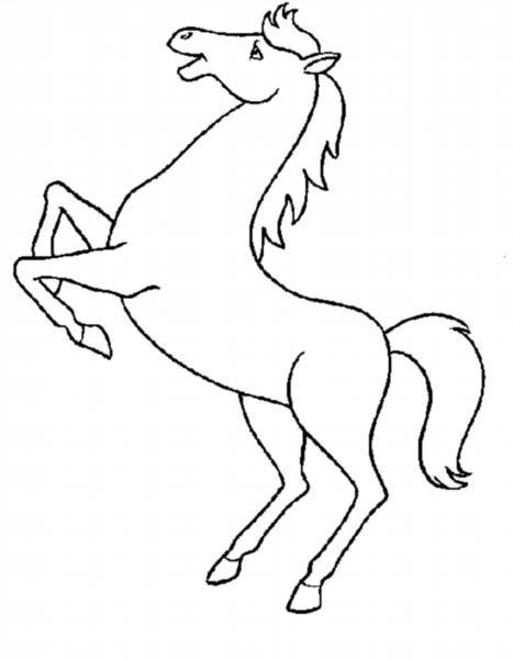 Раскраски коней