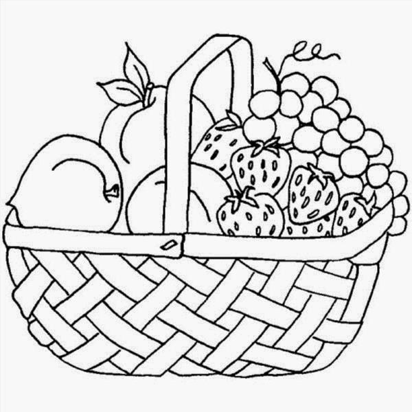 Раскраски шаблоны с фруктами