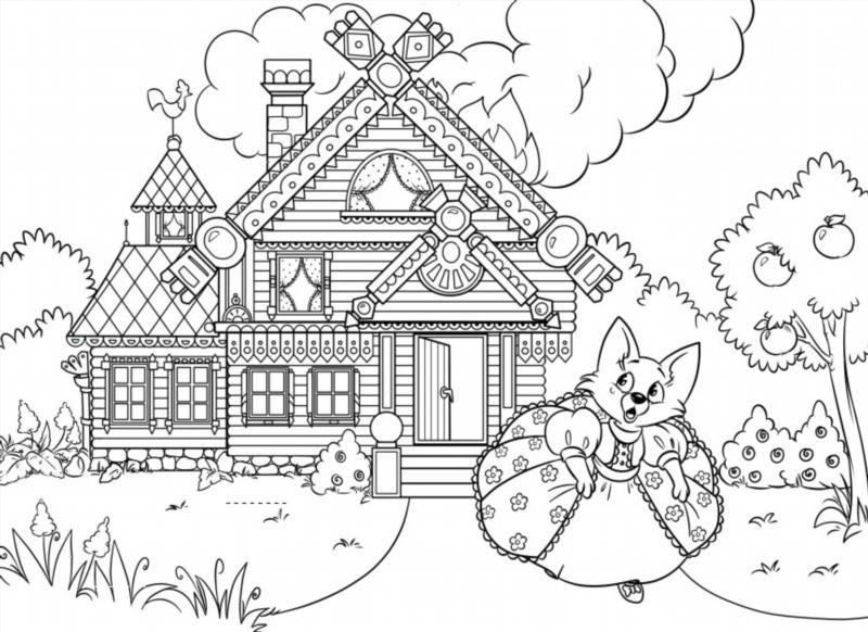 Раскраски дома - 4