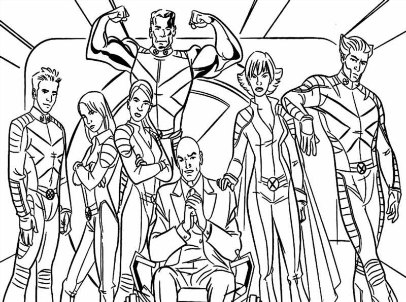"""X Men Para Colorear: Раскраски """"люди икс"""" скачать и распечатать бесплатно"""