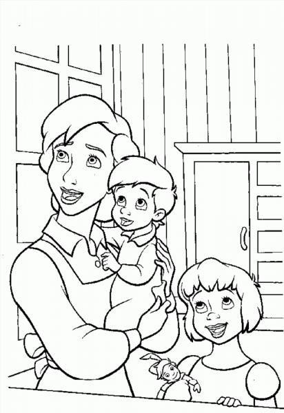 Вышивка мама с ребенком